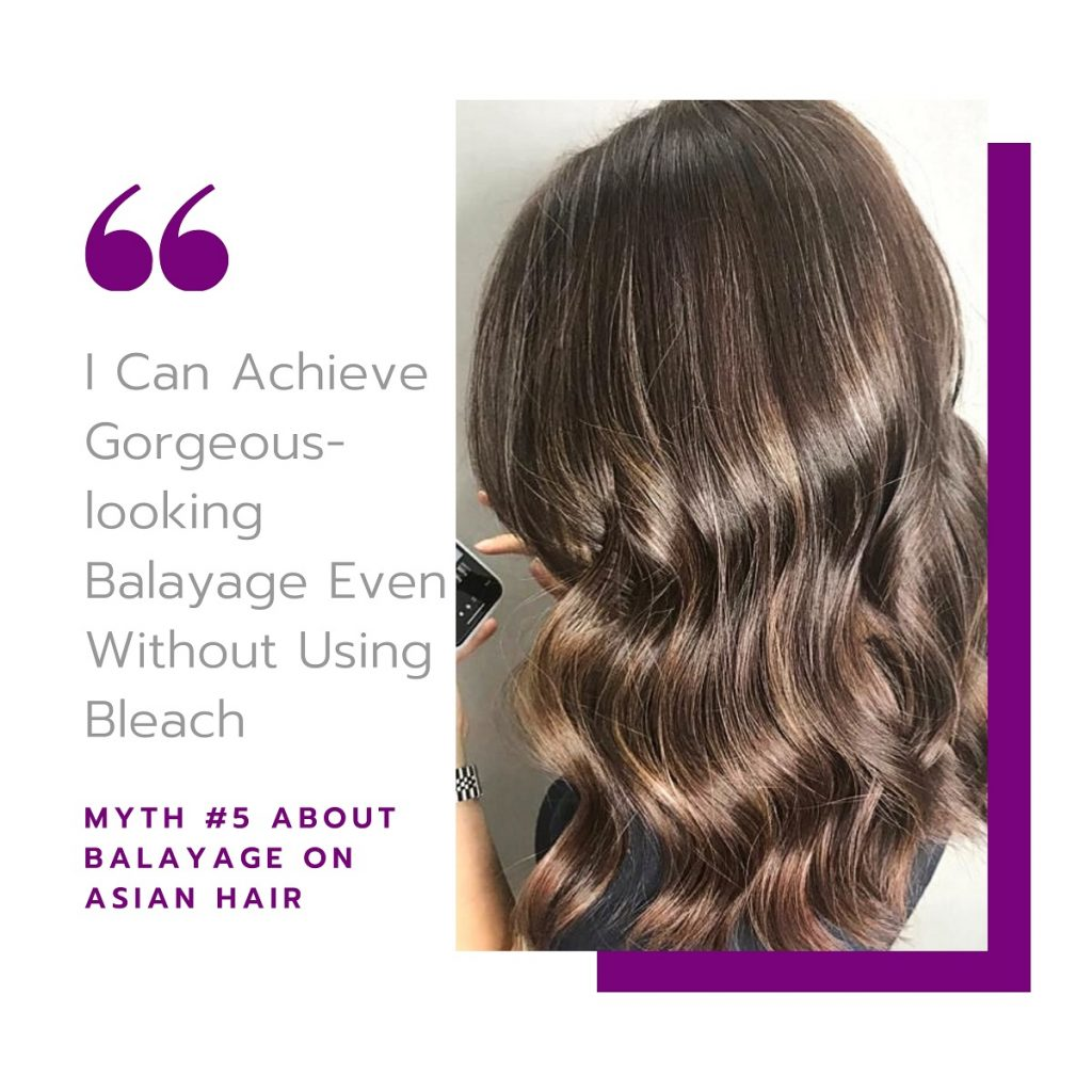 Myth #5: I Can Achieve Gorgeous-looking Balayage Even Without Using Bleach