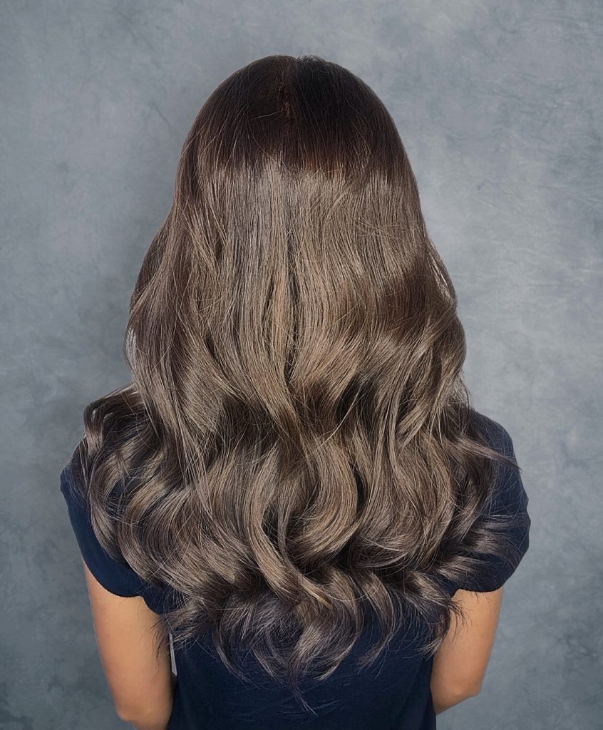Toffee Brown Hair designed by Salon Director of Chez Vous, Emil Khor