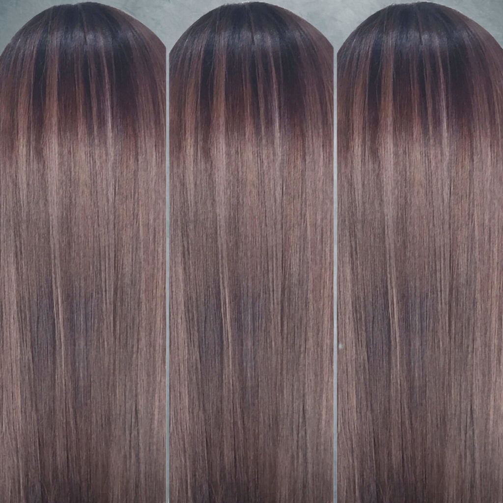 Monochromatic Mushroom Brown Hair, designed by Salon Director of Chez Vous, Victor Liu