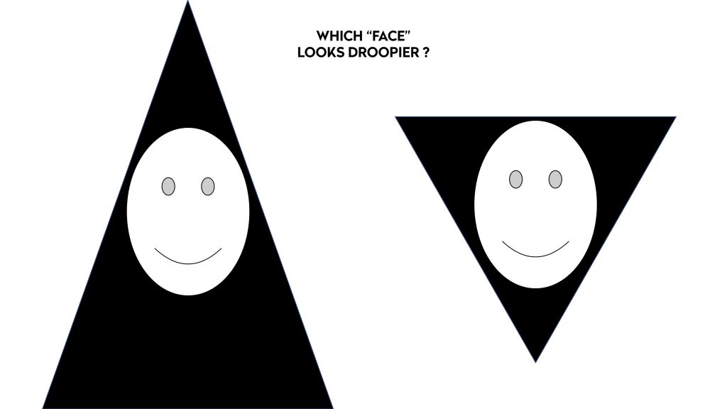 Which Face Looks Droopier?