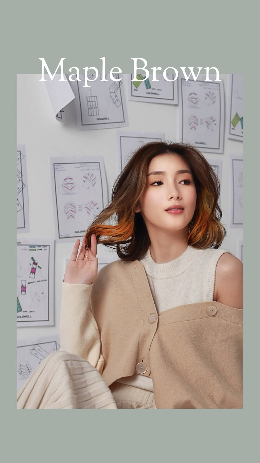 Hair Trend 2021 Maple Brown Chez Vous X Goldwell Colour Collection