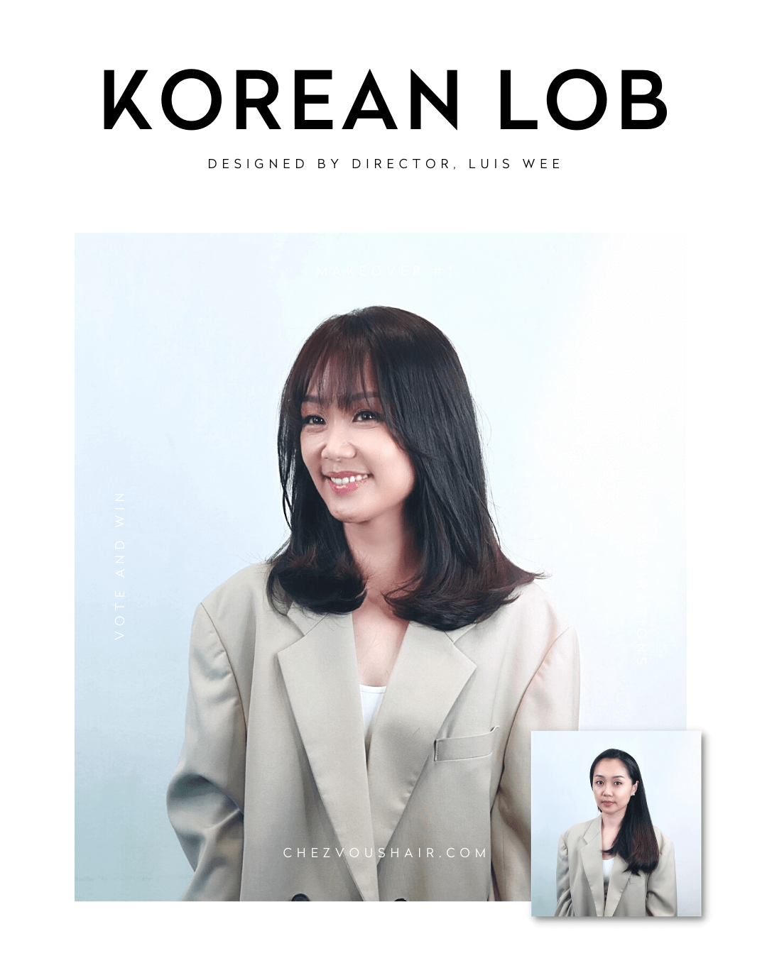 Best Short Haircuts & Medium-Length Hairstyles Trend #1: Korean Bob Hairstyle | Designed by Director of Chez Vous Hair Salon, Luis Wee | Services: Digital Perm, Root Perm, Haircut